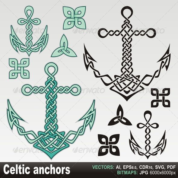 Celtic anchors - Decorative Symbols Decorative