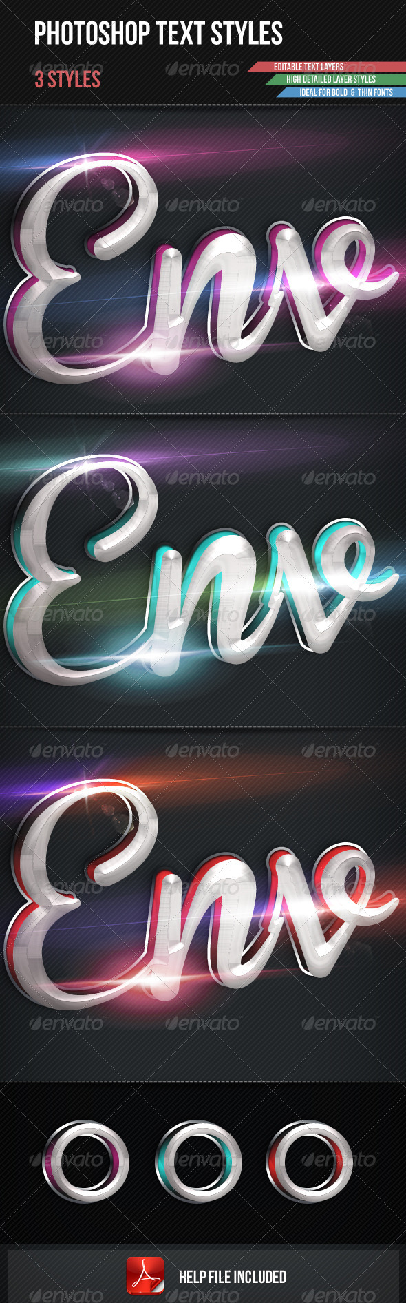 Photoshop Text Styles - Text Effects Styles