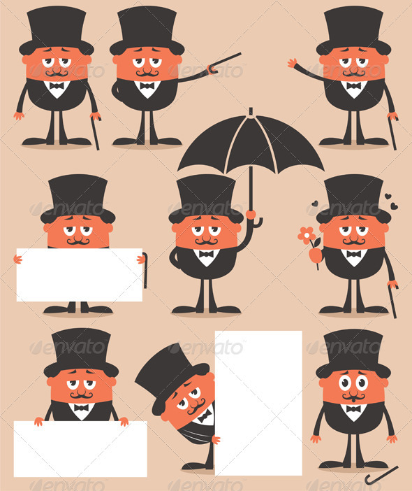 Gentleman - Characters Vectors