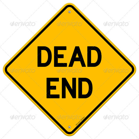 Dead End Sign - Man-made objects Objects