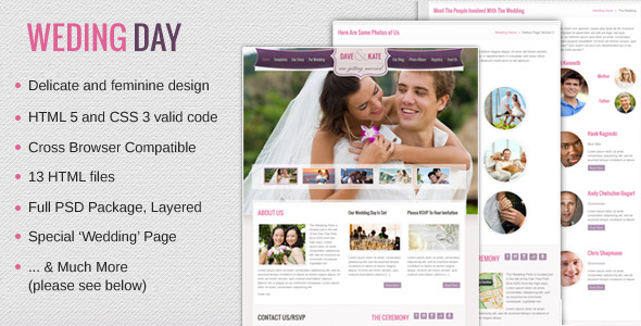 Wedding Day - HTML/CSS