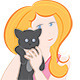 Woman holding a little cat - GraphicRiver Item for Sale