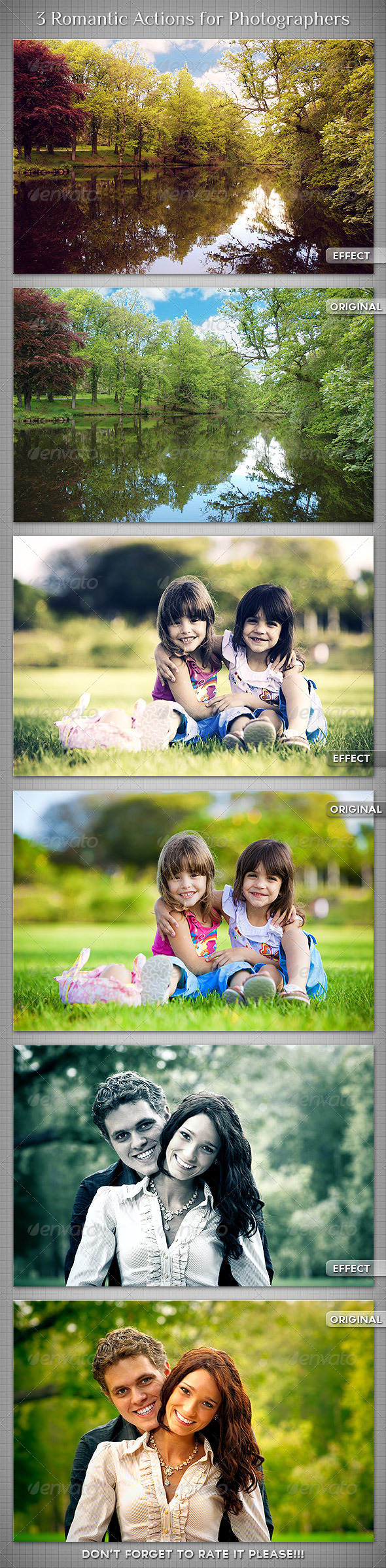 3 Romantic Actions for Photographers - Photo Effects Actions