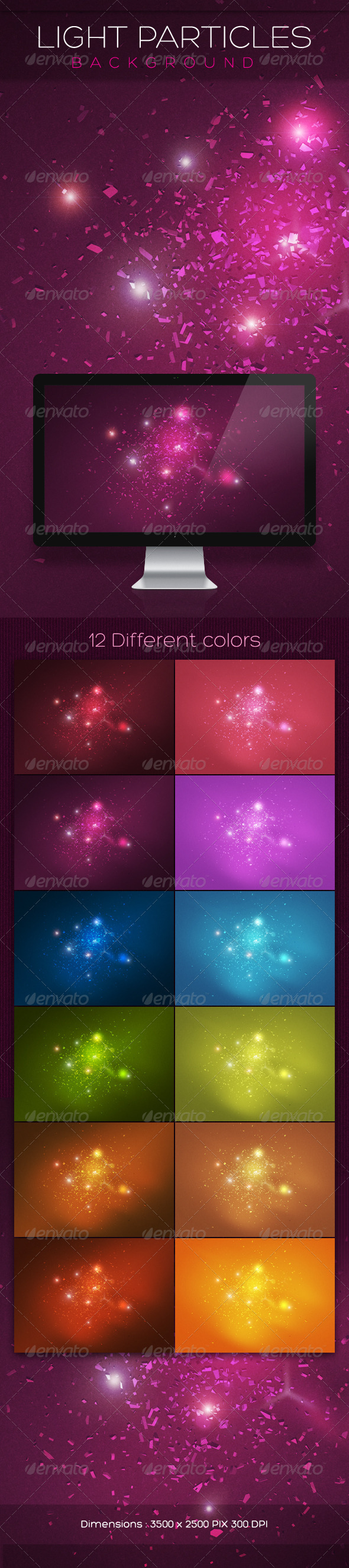 Light Particles Backgrounds - Abstract Backgrounds