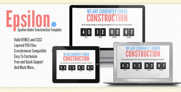 Epsilon-Under Construction or coming soon Template