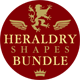 Heraldry Photoshop Shapes Bundle - GraphicRiver Item for Sale