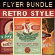 Retro Style Flyer Bundle 4 - GraphicRiver Item for Sale