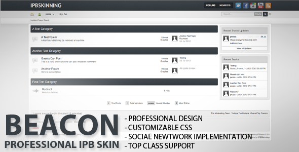 Beacon - IPB Forum Skin