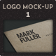 5 Realistic Logo Mock Up Cardboard Achitect - GraphicRiver Item for Sale