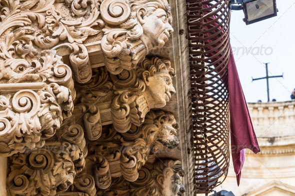 baroque balcony - Stock Photo - Images