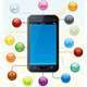 Touchscreen Smartphone with Icons - GraphicRiver Item for Sale
