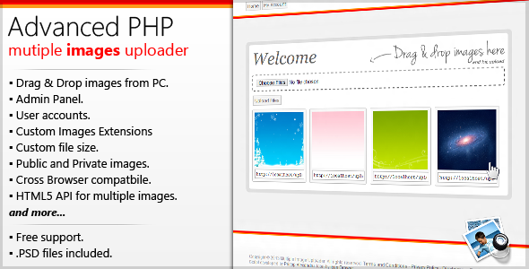 Advanced PHP Multiple Images Uploader - CodeCanyon Item for Sale