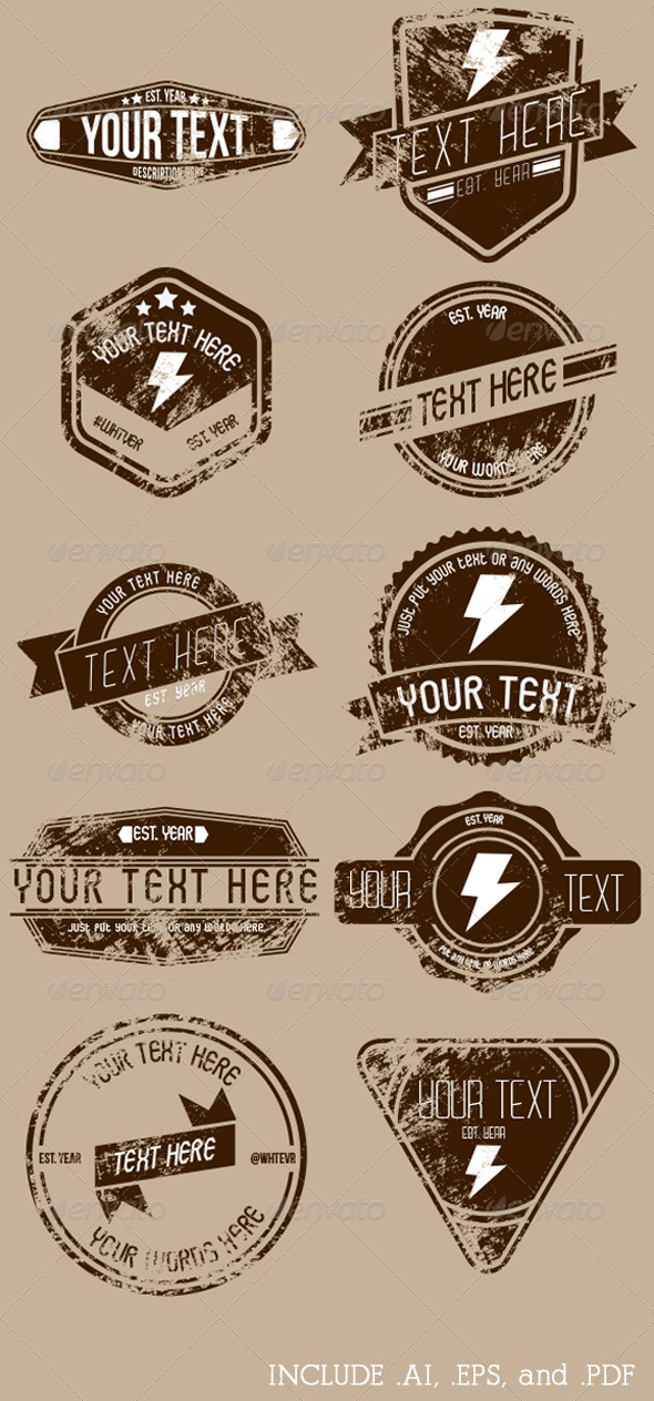GraphicRiver Retro Badge Pack 01 2822142