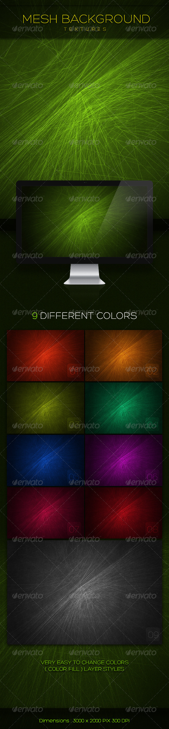 Mesh Background Textures - Abstract Backgrounds