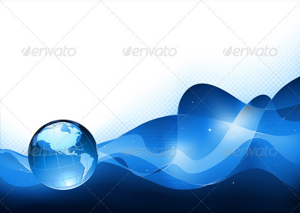 Glossy Earth Globe   - Backgrounds Decorative