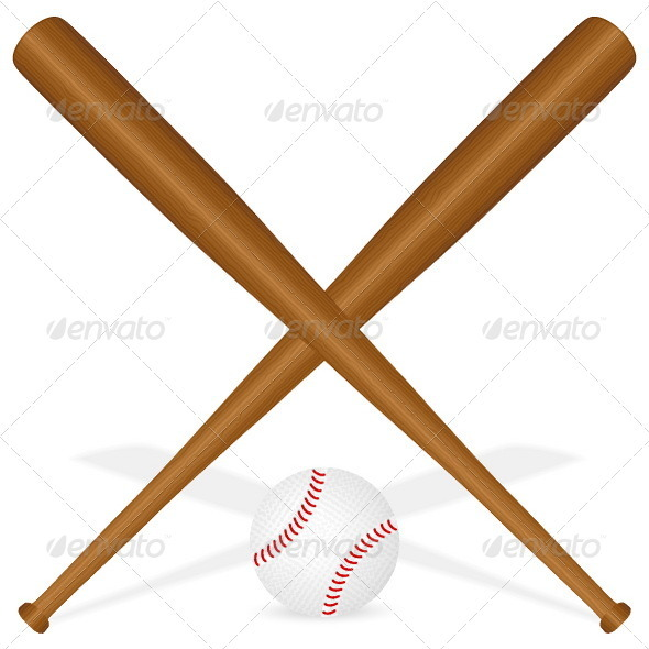 Baseball bats and ball - Sports/Activity Conceptual