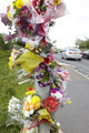 Floral Tributes At Site Of Road Traffic Accident - PhotoDune Item for Sale