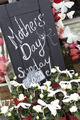 Sign Outside Florists Advertising Mother's Day - PhotoDune Item for Sale
