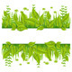 Green eco line with leafs - GraphicRiver Item for Sale