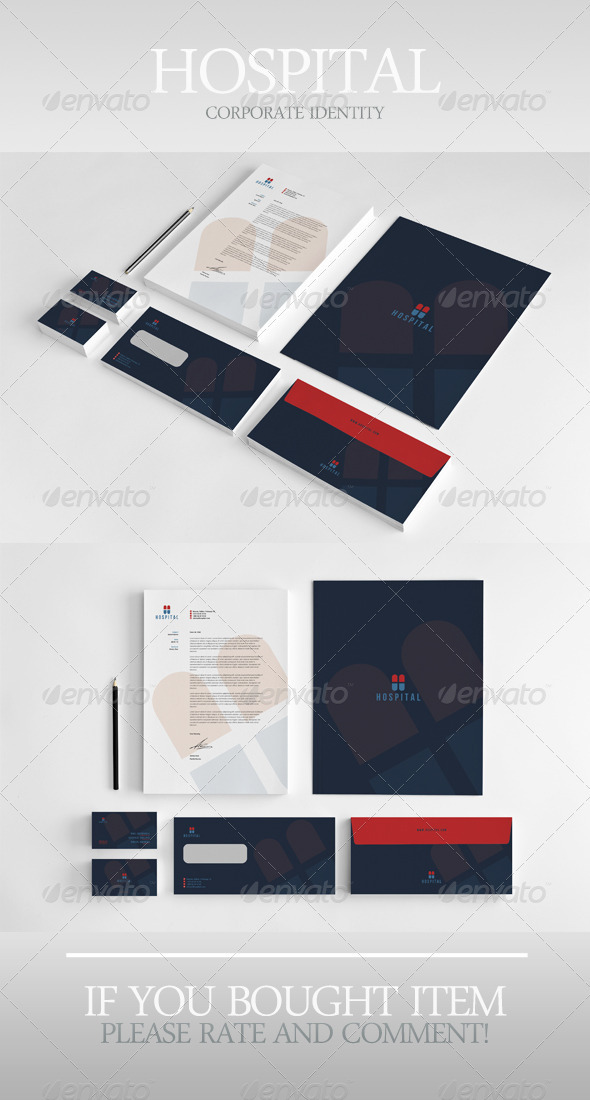 Hospital Corporate Identity - Stationery Print Templates