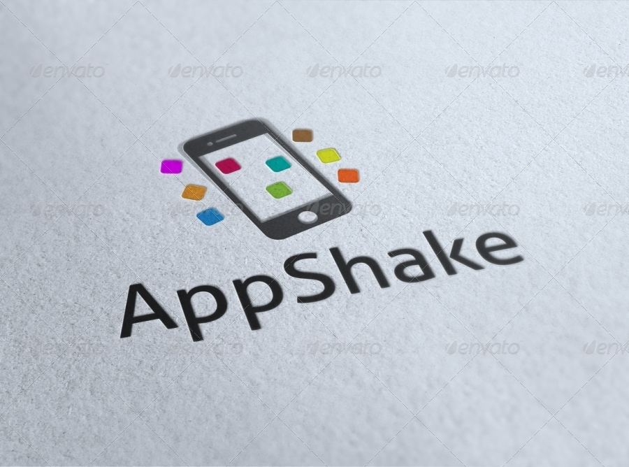 """AppShake"" Fun Mobile Logo Template"