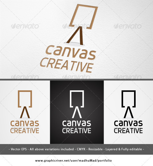 Canvas Creative Logo - Objects Logo Templates