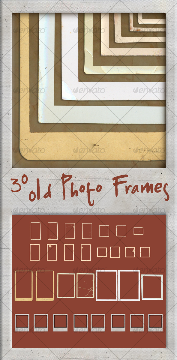 GraphicRiver 30 Old Photo Frames 100051