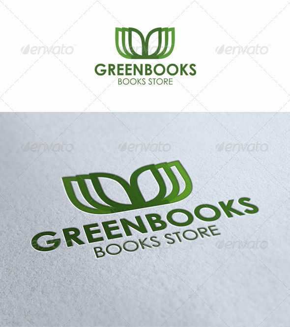 Green Books Logo - Symbols Logo Templates