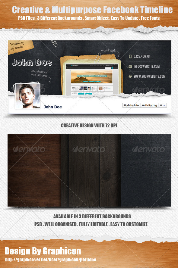 GraphicRiver Creative & Multi-purpose Facebook Timeline Cover 2809721