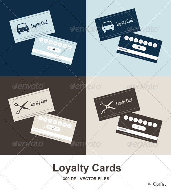 Car Wash &amp; Hairdresser Loyalty Card Pack - Loyalty Cards Cards &amp; Invites