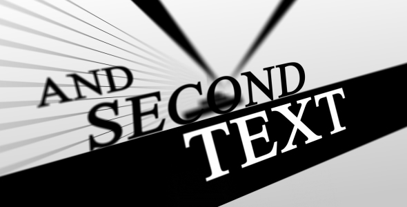 After Effects Project - VideoHive Black and White 101741