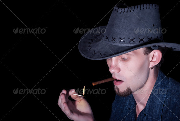 Cowboy - Stock Photo - Images