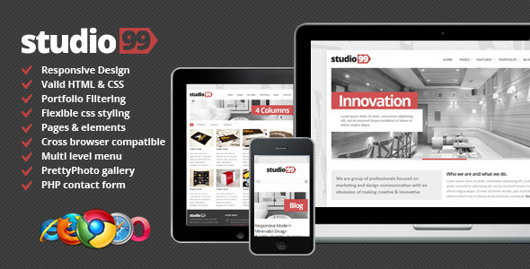 Studio99 - Responsive Modern Design - Creative Site Templates