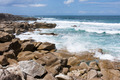 Waves breaking at rocky coast of Brittany, France - PhotoDune Item for Sale