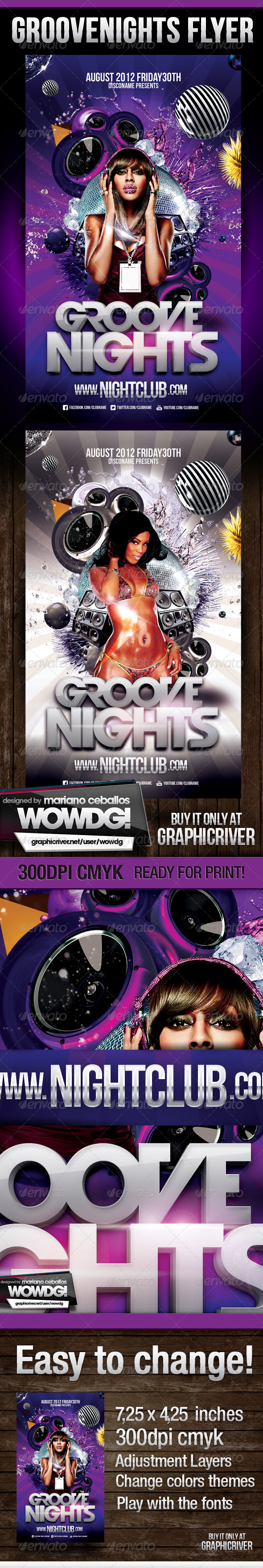 Groove Nights Flyer - Clubs & Parties Events