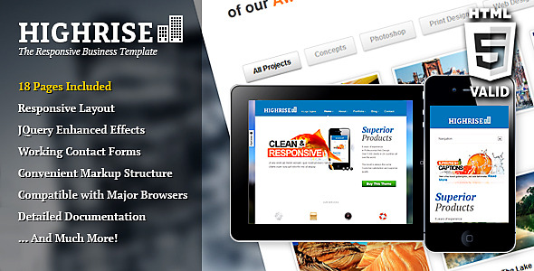 Highrise Responsive Business Template