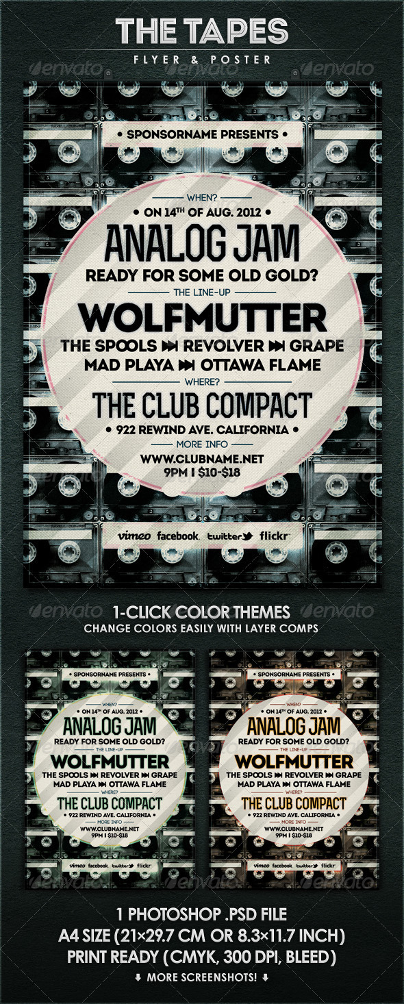 GraphicRiver The Tapes Flyer & Poster 2827809