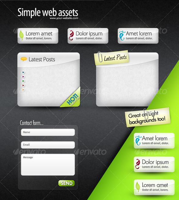 GraphicRiver Web Elements Web Boxes & Web Buttons 101799
