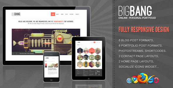 Bigbang - A New Responsive Responsive WordPress Theme