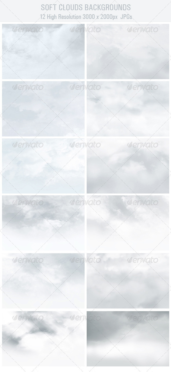 Soft Clouds Backgrounds - Backgrounds Graphics