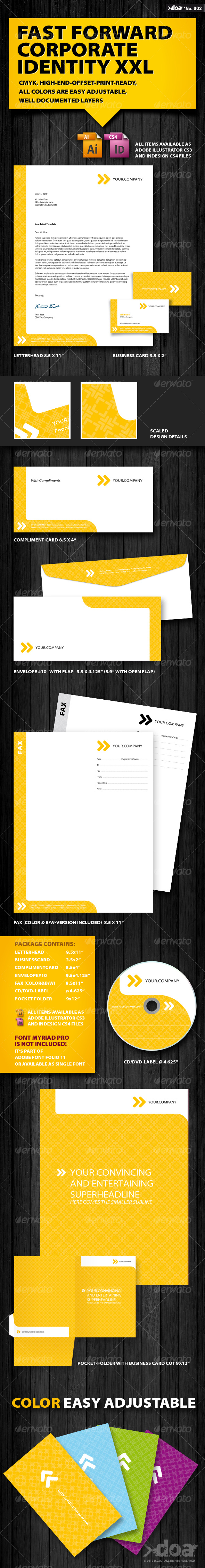 Fast Forward - Corporate Identity - Stationery Print Templates