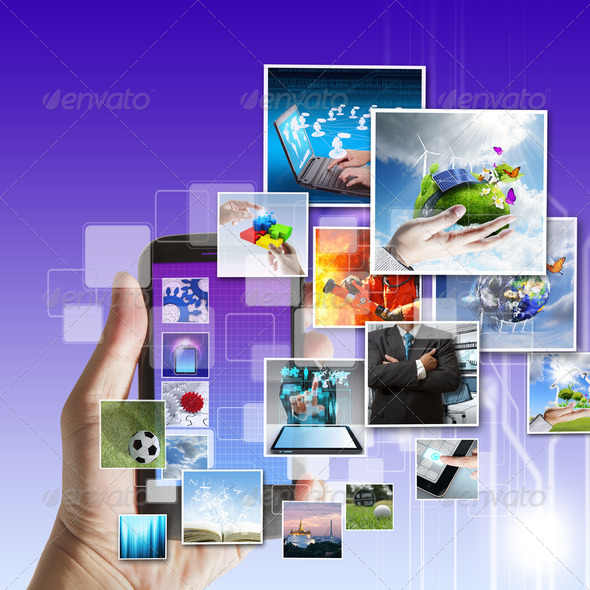 touch screen mobile phone - Stock Photo - Images
