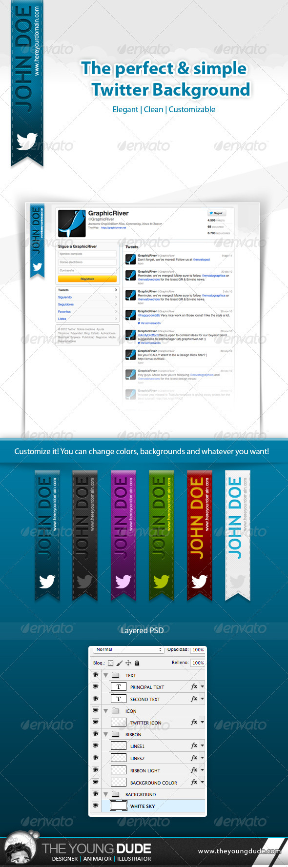 Simple and Clean Twitter Background - Twitter Social Media