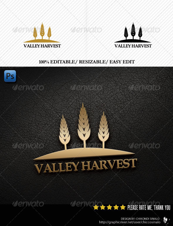 Valley Harvest Logo Template - Nature Logo Templates