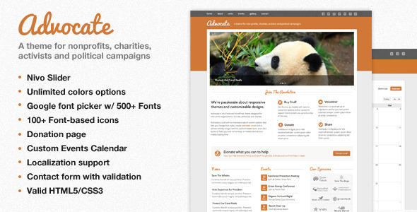 ThemeForest Advocate A Nonprofit WordPress Theme 2537016