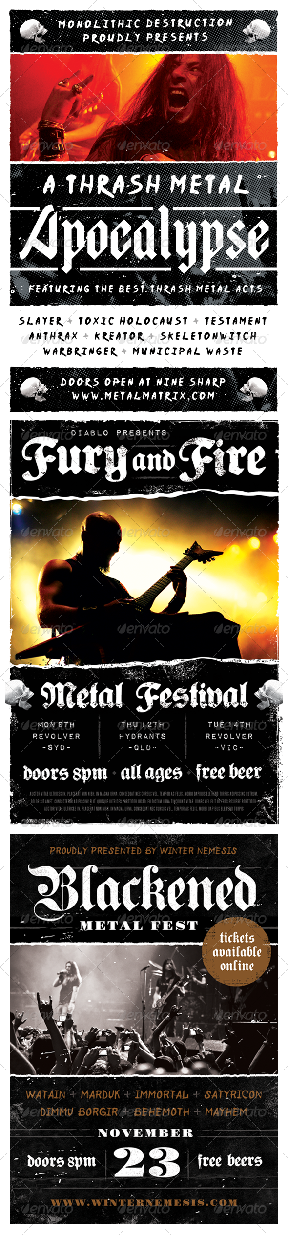 Heavy Metal Flyer Bundle - Volume One - Concerts Events