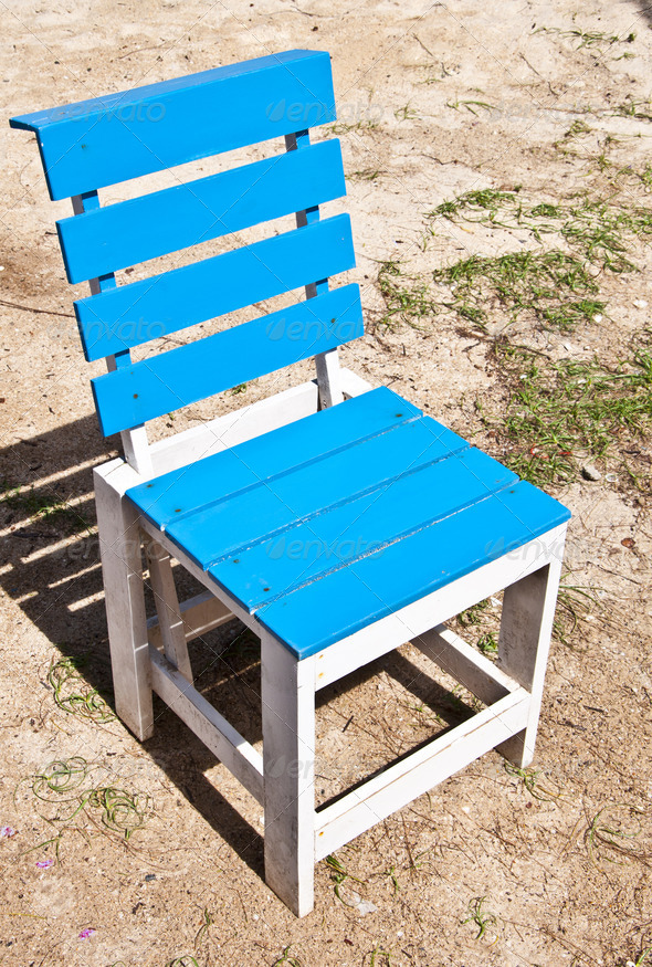 Single chair in sunny day - Stock Photo - Images