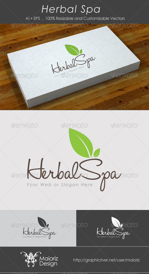 Herbal Spa Logo Template - Nature Logo Templates