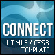 Connect Responsive Template /HTML5/CSS3/jQuery - ThemeForest Item for Sale