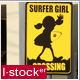Surfer Girl Sign - VideoHive Item for Sale